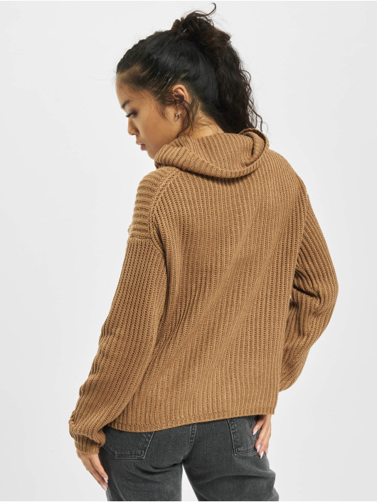 Only Sweat & Pull onlCourtney Life Rollneck brun