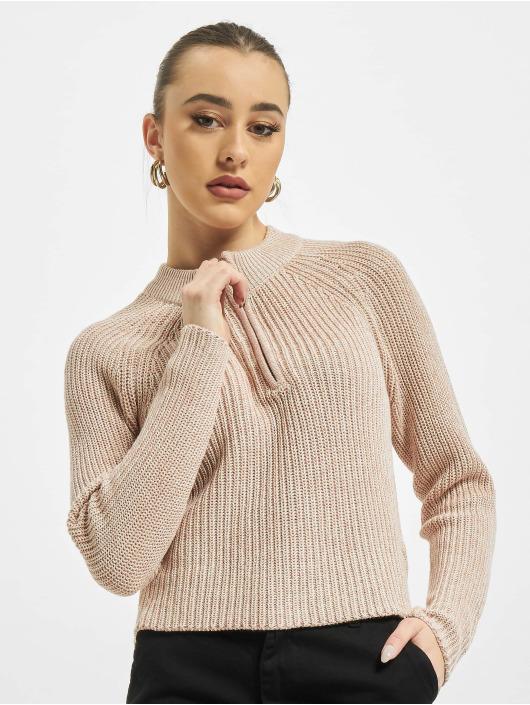 Only Sweat & Pull onlJuna Life Zip Knit rose