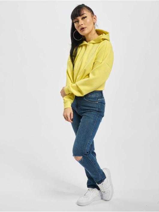 Only Sweat capuche onlNeon jaune