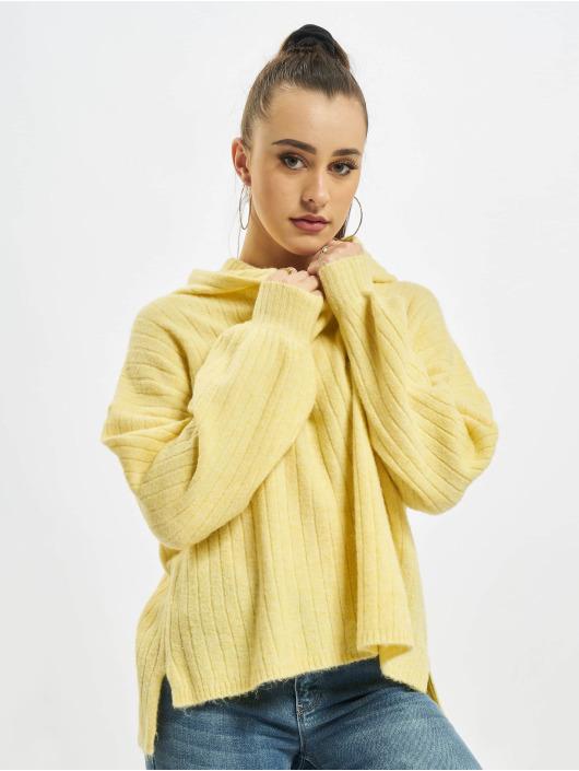 Only Sweat capuche onlCorinne Loose Knit jaune