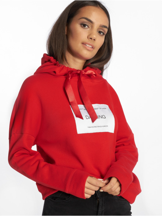 Only Sweat capuche wfLux rouge