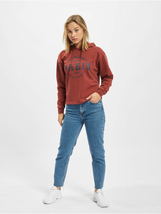 Only Sweat capuche Onlcomfy rouge