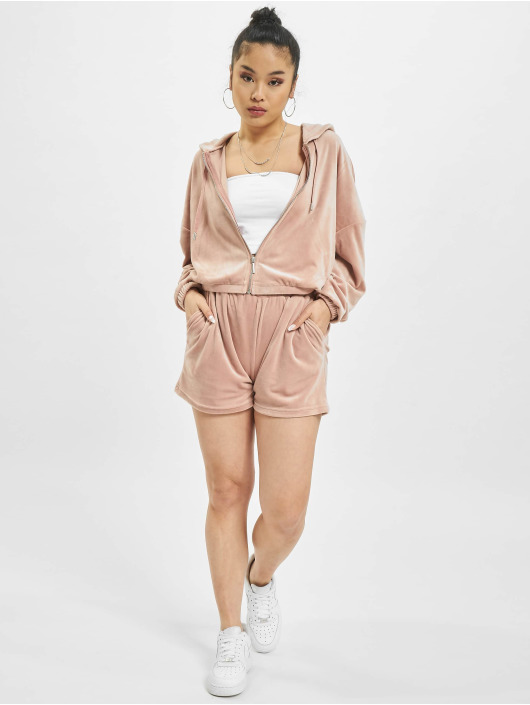 Only Sweat capuche zippé onlLaya rose