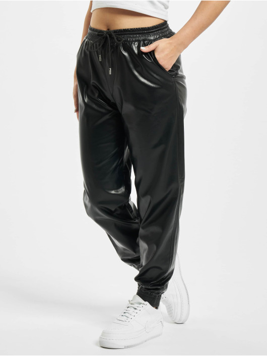 Only Sweat Pant onlMady-Callee Mw Faux Leather black