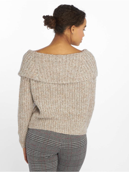 Only Swetry onlNew Fiona Off Shoulder bezowy