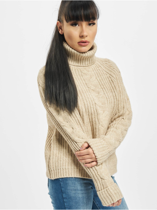 Only Swetry onlDaisy Rollneck bezowy