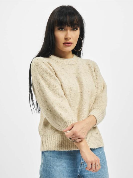 Only Swetry onlBelle 3/4 Glitter bezowy