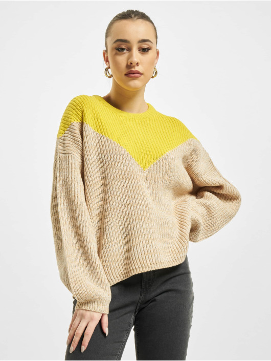 Only Swetry onlSookie Block Knit bezowy