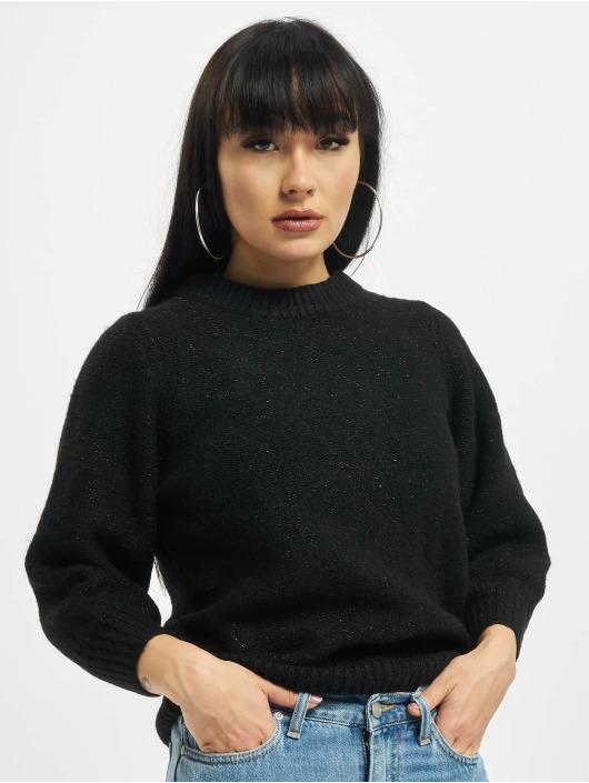 Only Swetry onlBelle 3/4 Glitter czarny
