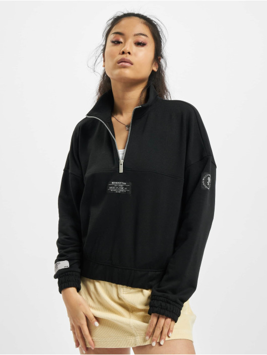 Only Swetry onlKira Life Half Zip czarny