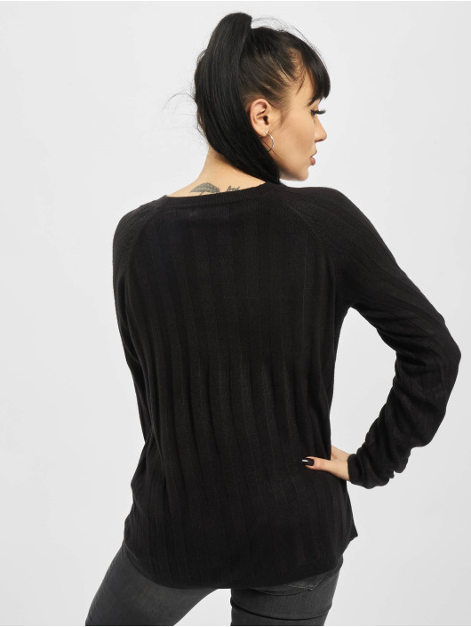 Only Swetry onlPeps Rib Tall Knit czarny