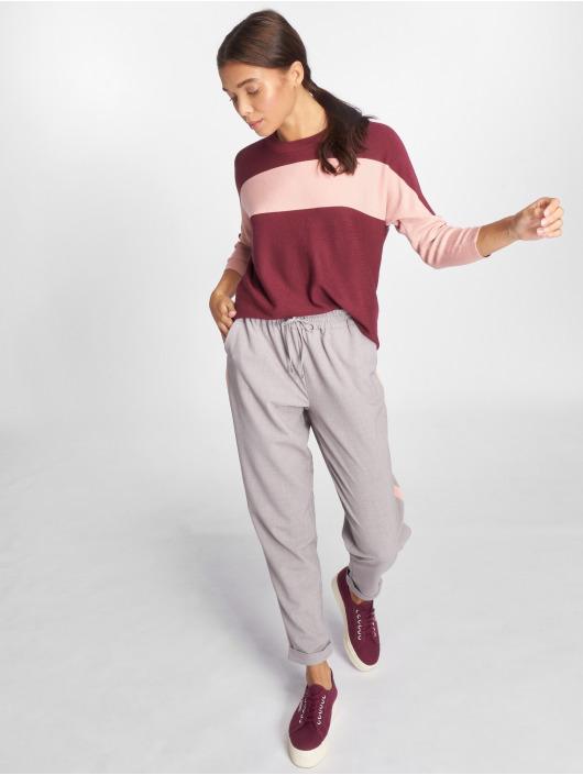 Only Swetry onlChia 3/4 Knit czerwony