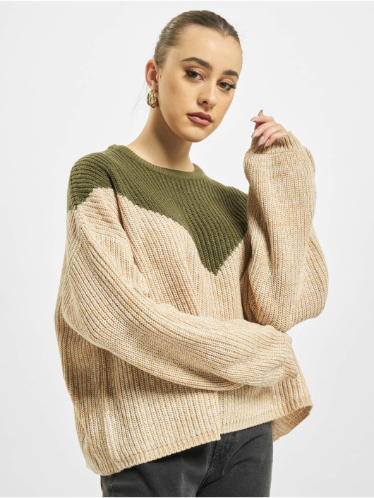 Only Swetry onlSookie Block Knit khaki