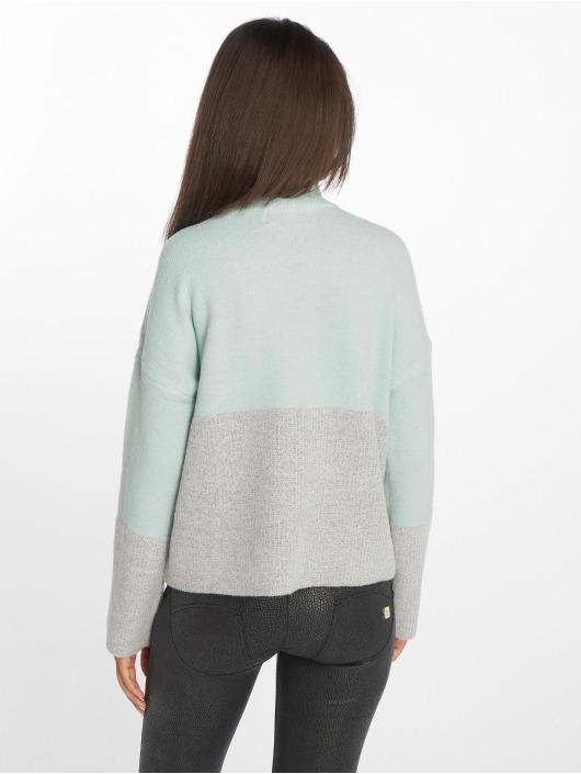 Only Swetry onlMette Colorblock niebieski