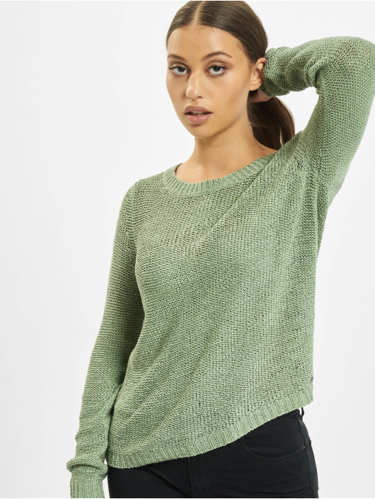 Only Swetry onlGeena XO Knit Noos oliwkowy