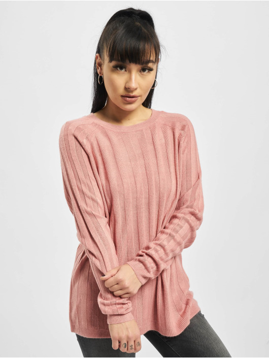 Only Swetry onlPeps Rib Tall Knit rózowy