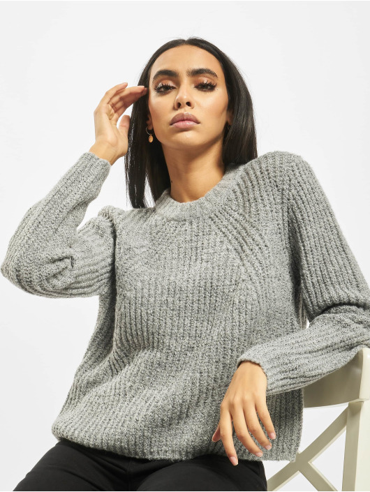 Only Swetry onlFiona Knit szary