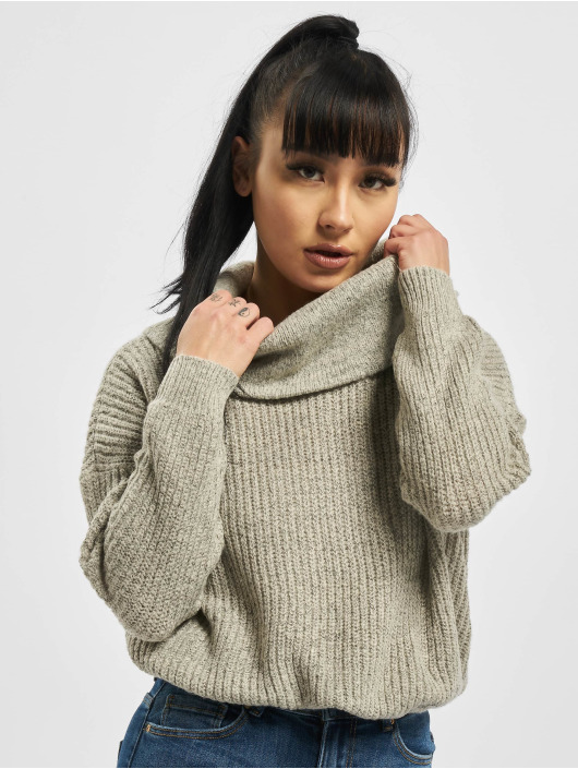 Only Swetry onlNia Rollneck Knit Noos szary