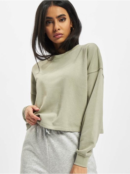 Only Swetry Onlbless Cropped zielony