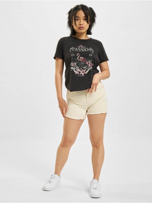 Only Szorty Blush Mid Shorts Raw Dot bezowy