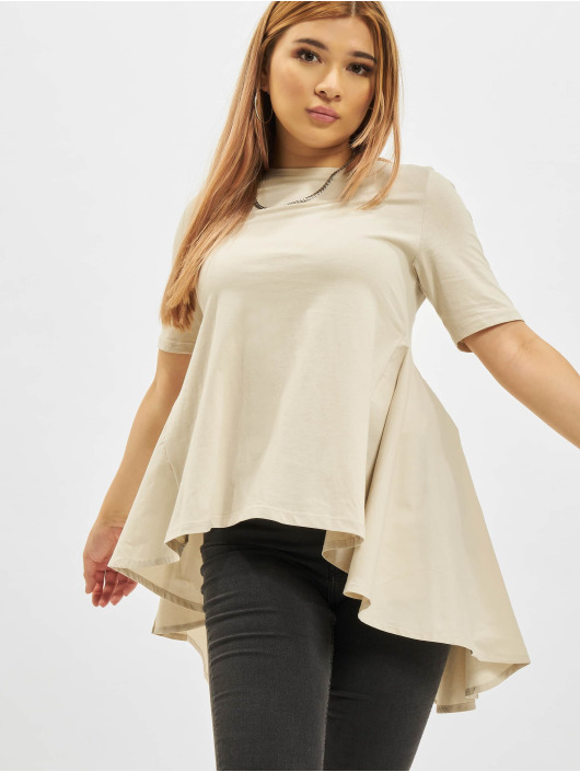 Only T-Shirt Essa Life Mix Top beige