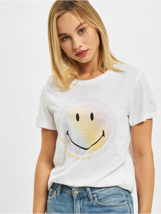 Only T-shirt Onlsmiley Life REG JRS bianco