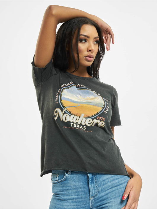Only T-Shirt onlLucy Regular Road black