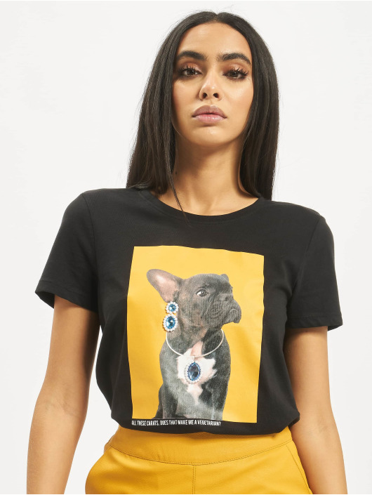 Only T-Shirt onlCathrine Regular Pet black