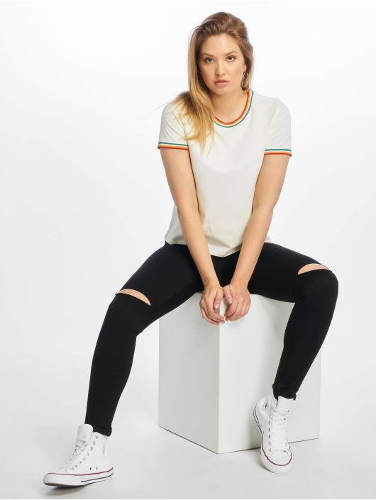 Only T-Shirt onlRainbow blanc