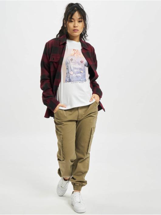 Only T-Shirt onlKita Life Reg Badges Box blanc