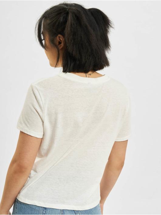 Only T-Shirt onlAma Life Shortsleeve Cropped O-Neck blanc