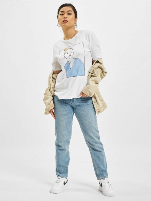 Only T-Shirt onlDina Life Boxy Shortsleeve Box blanc