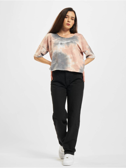 Only T-Shirt Onlzoey Life Falltie Dye blanc