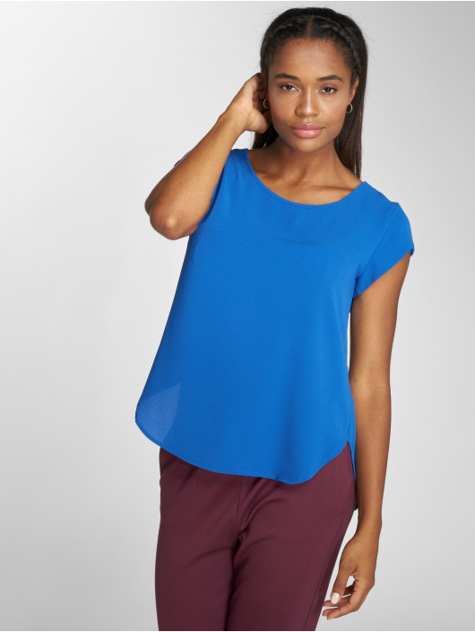 Only T-Shirt onlVic Solid Woven blau