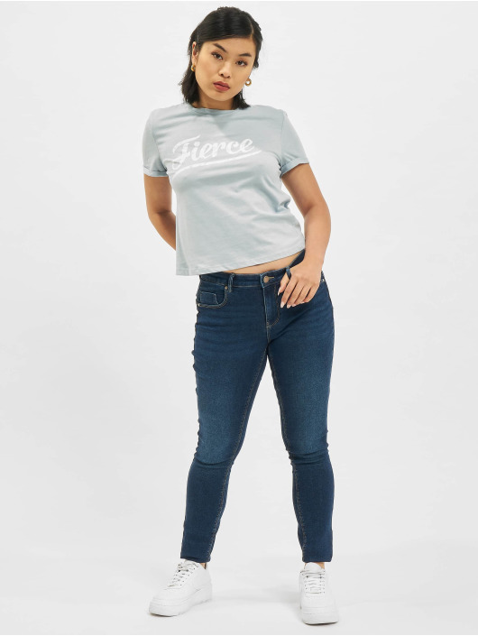 Only T-Shirt Only onlMolly Life Text Box bleu