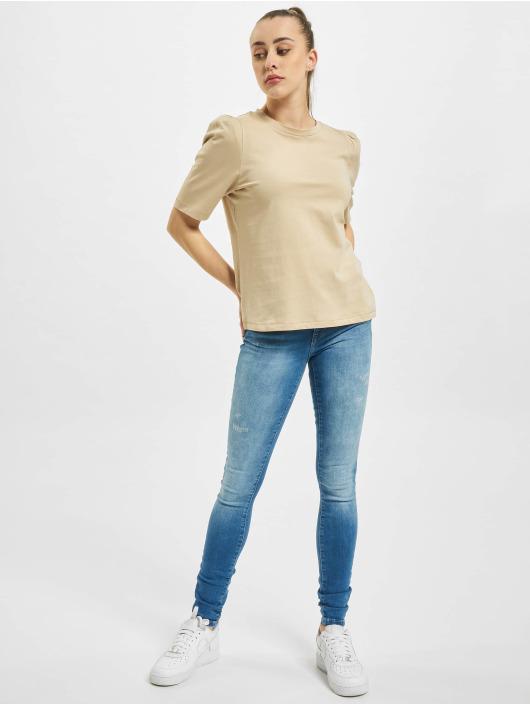 Only T-Shirt onlNora Pastel Life Vol Denim braun