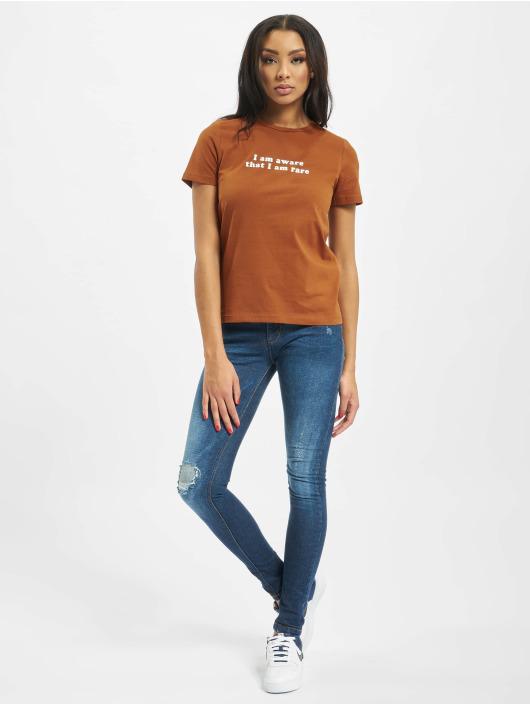 Only T-Shirt onlStatement Regular brown