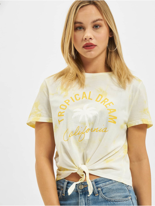 Only t-shirt Onltaylor Life Knot JRS geel
