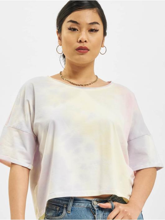 Only T-Shirt Zoey Life Tie Dye Denim gelb