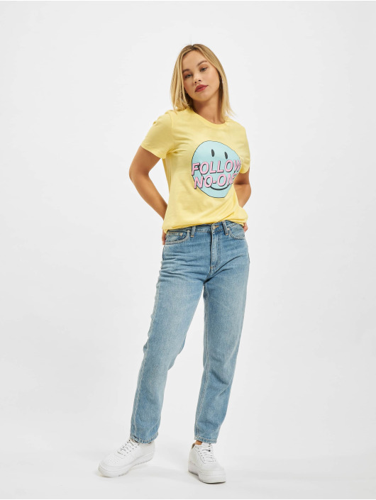 Only T-shirt Onlsmiley Life REG JRS giallo