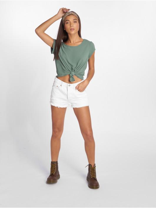 Only T-Shirt onlVic Solid Woven grün