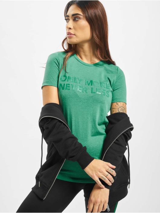 Only T-Shirt onlLina Regular Print Box Li grün
