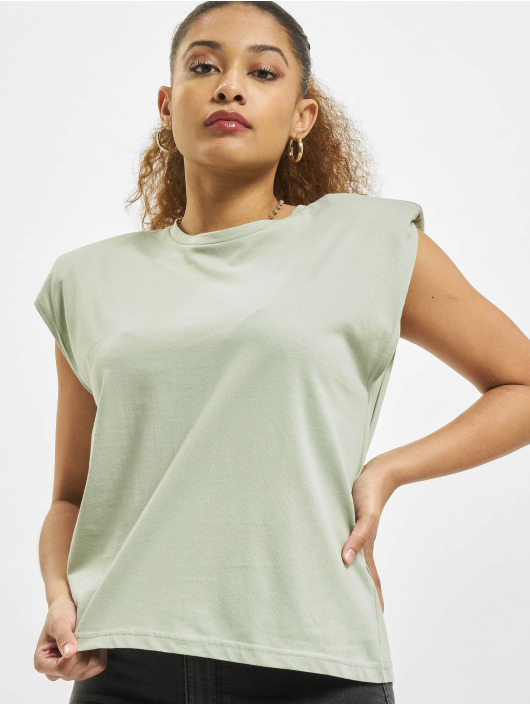 Only T-Shirt onlAmy Padded Shoulder grün