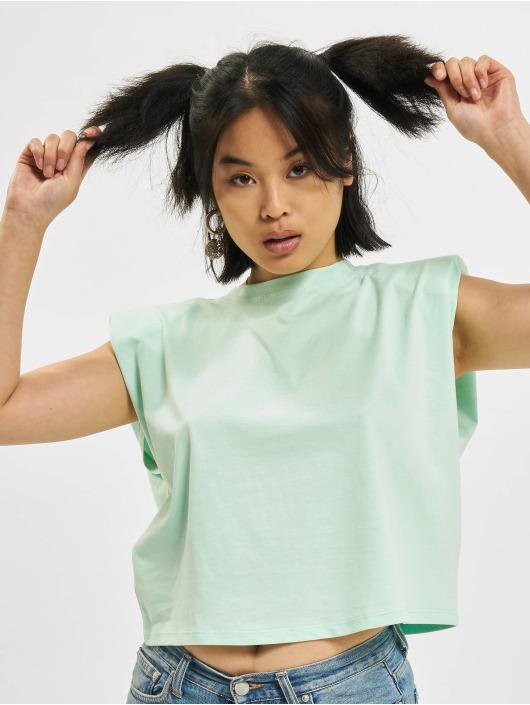 Only T-Shirt Jen Life Shoulderpad grün