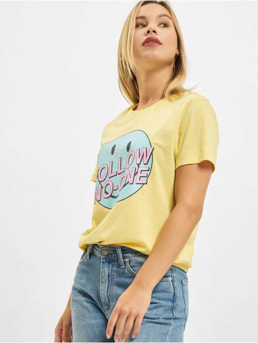 Only T-Shirt Onlsmiley Life REG JRS jaune