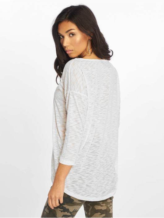 Only T-Shirt manches longues onlCasa Solid Slub blanc