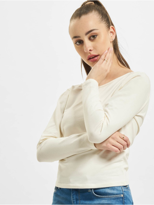 Only T-Shirt manches longues onlNiff Life Open Back blanc