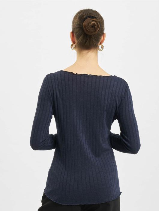 Only T-Shirt manches longues onlKally Rib bleu