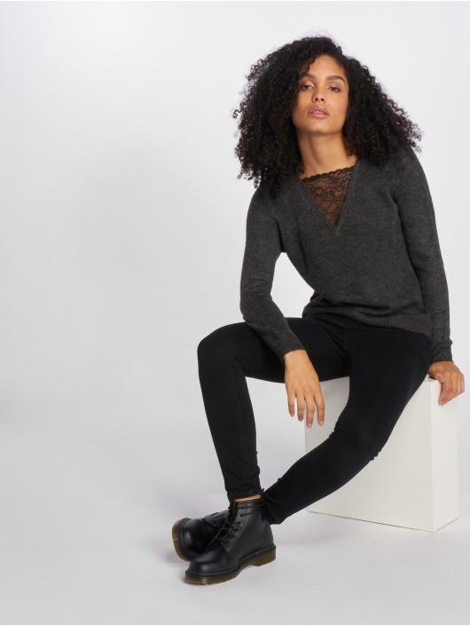 Only T-Shirt manches longues onlMiramar Lace Knit gris