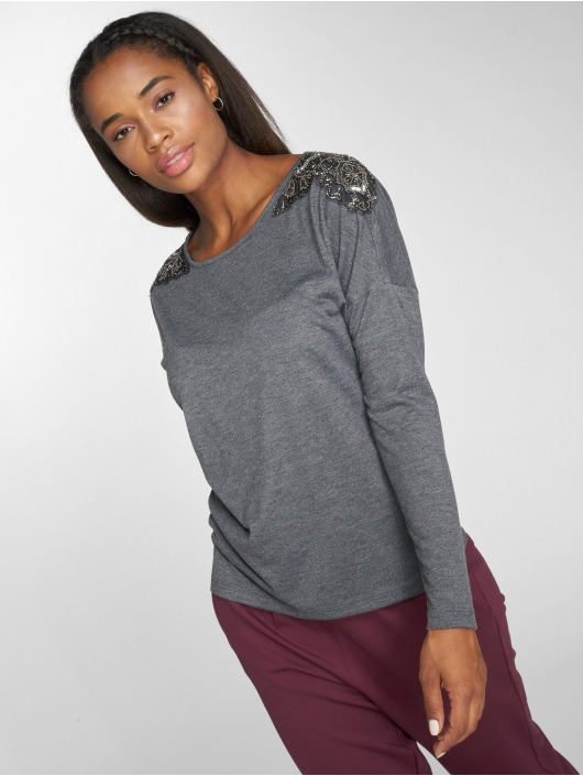 Only T-Shirt manches longues onlMirabella gris